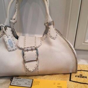 💯 Authentic Fendi Leather Selleria Bag